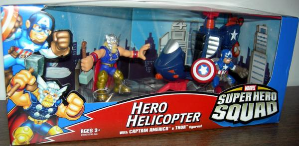Hero Helicopter Captain America Thor Super Hero Squad