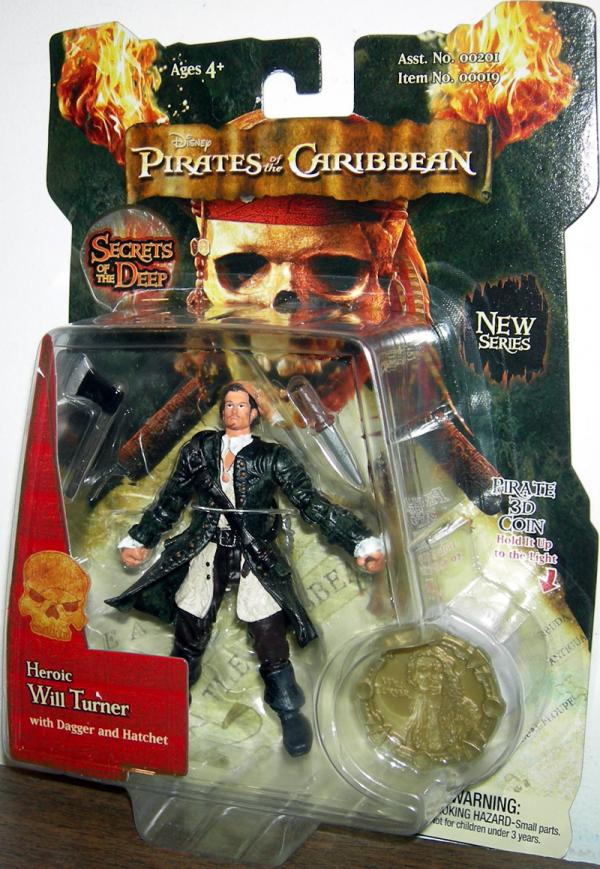 Heroic Will Turner Pirates Caribbean Secrets Deep action figure