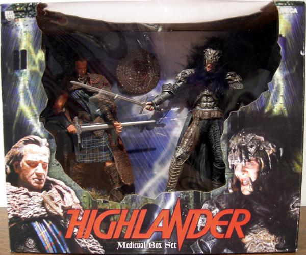 Highlander Medieval Box Set Action Figures Kurgan MacLeod