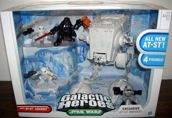 Hoth AT-ST Assault Galactic Heroes action figures