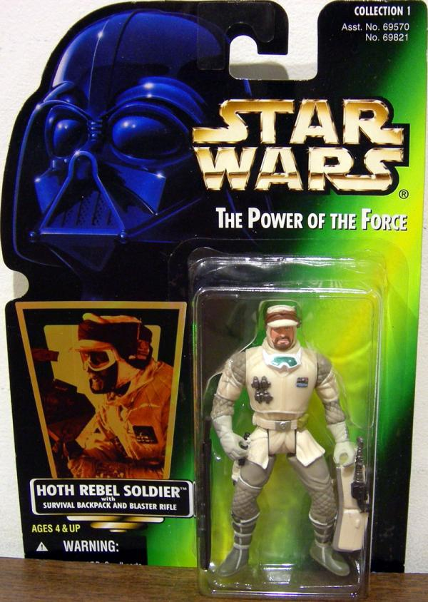 Hoth Rebel Soldier Action Figure Green Card Hasbro