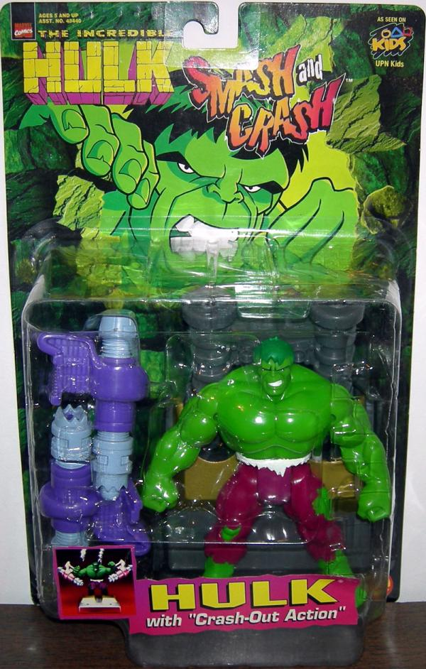 Incredible Hulk Figure Crash Out Action Smash Toy Biz