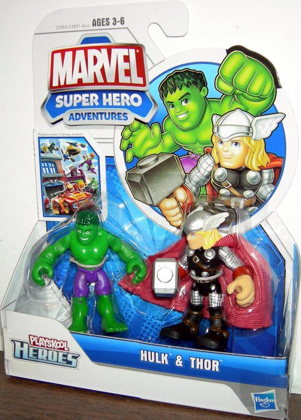 Hulk Thor Playskool Heroes