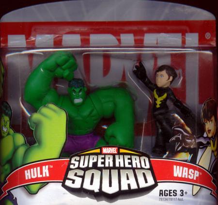Hulk Wasp Super Hero Squad action figures