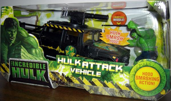 Hulk Attack Vehicle with Hood Smashing Action Mattel