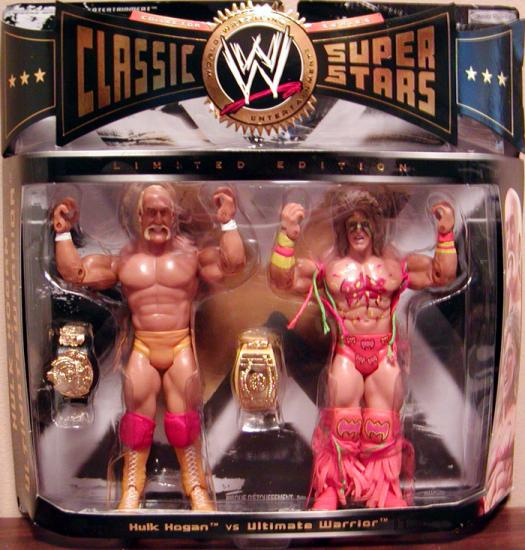 Hulk Hogan vs Ultimate Warrior Figures WWE Classic SuperStars