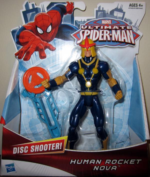 Human Rocket Nova Ultimate Spider-Man action figure
