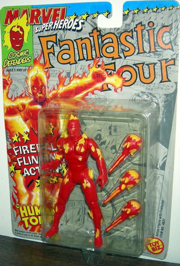 Human Torch Figure Marvel Super Heroes Fireball Flinging Action