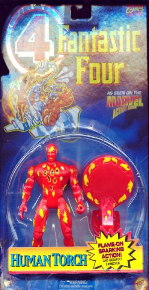 Human Torch flame-on sparking action