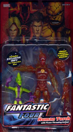 Human Torch Flame-Throwing Action figure Fantastic Four 4 Impy