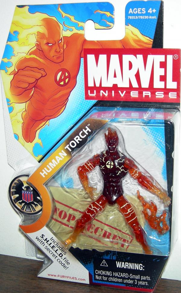 Human Torch Marvel Universe, flaming variant, 007