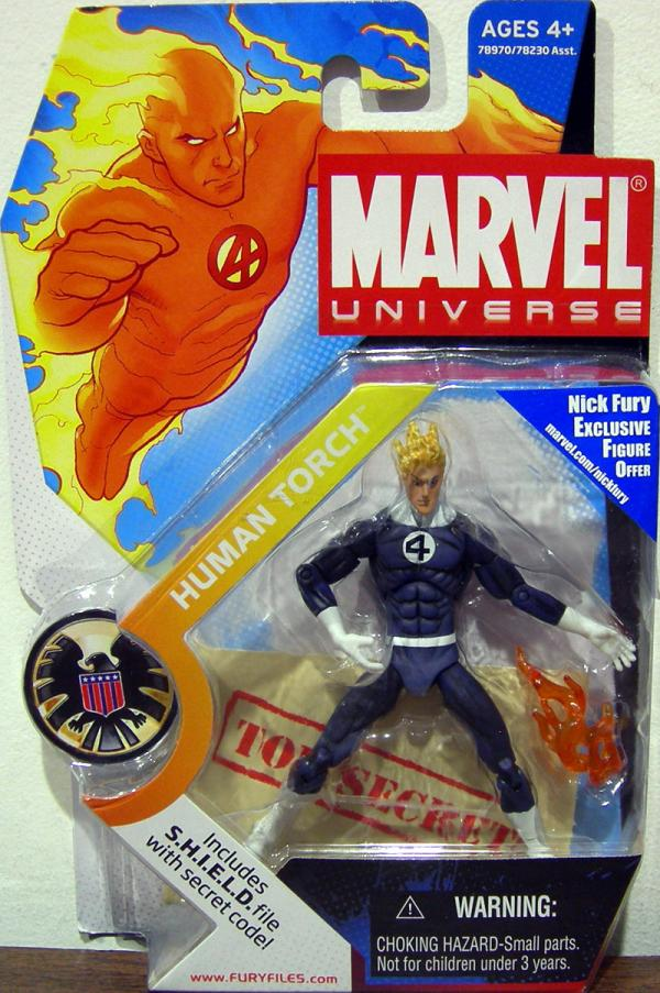 Human Torch Marvel Universe, dark costume, 011