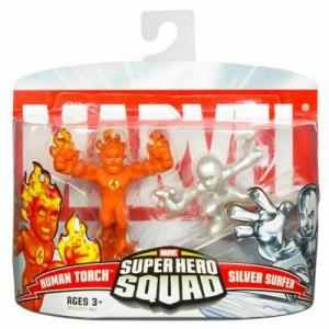 Human Torch Silver Surfer Figures Super Hero Squad