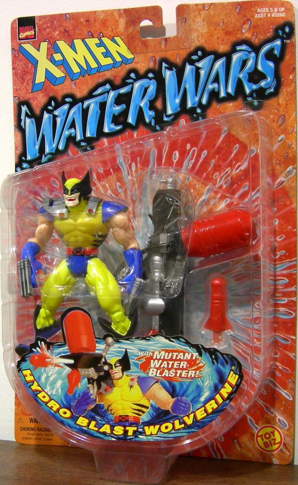 Hydro Blast Wolverine Masked Action Figure Water Wars Toy Biz