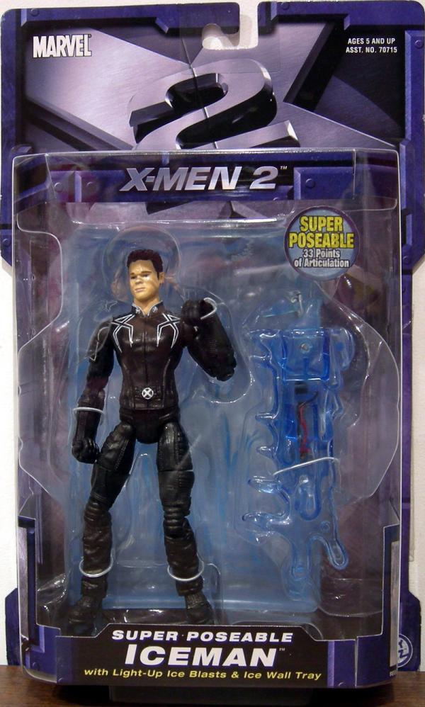 Iceman Figure X-Men 2 Movie Light-Up Ice Blasts Wall Tray