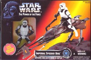 Imperial Speeder Bike Vehicle Figure Power Force Star Wars
