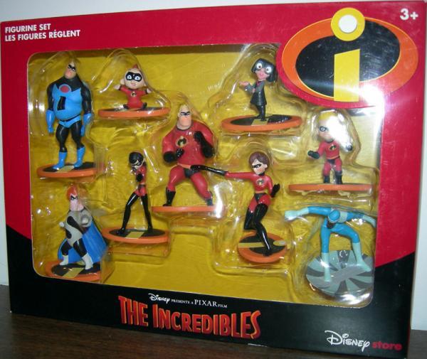 Incredibles Figurine Set 9-Pack