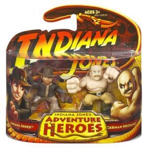 Indiana Jones vs German Mechanic Adventure Heroes