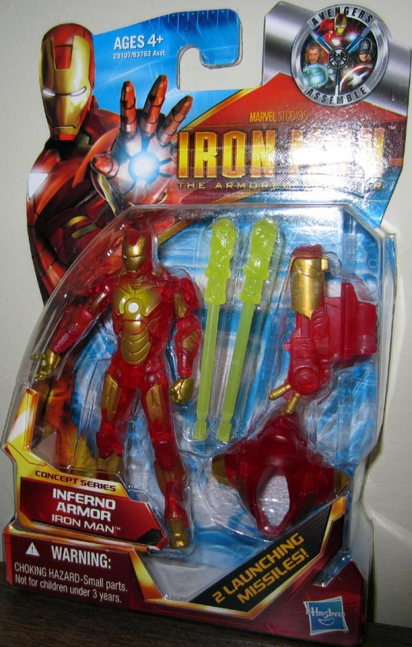 Iron Man Action Figure Inferno Armor Armored Avenger Concept Series 03