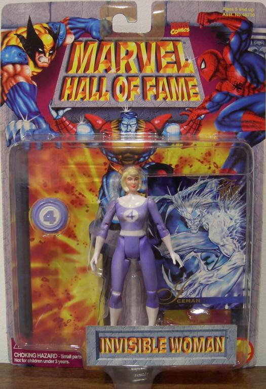 Invisible Woman Marvel Hall Fame, color changing