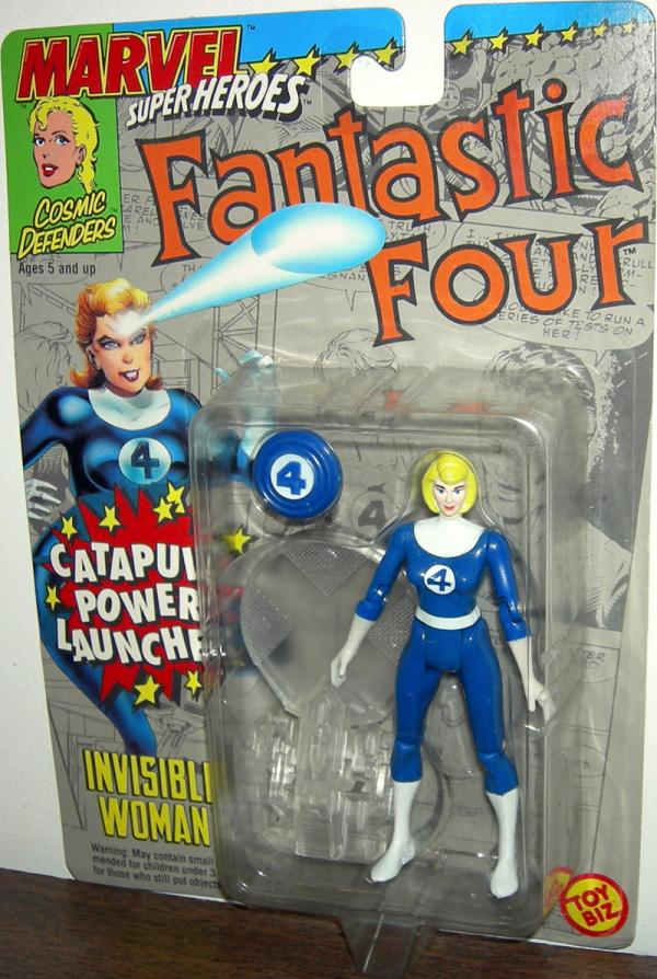 Invisible Woman Figure Catapult Power Launcher Marvel Super Heroes