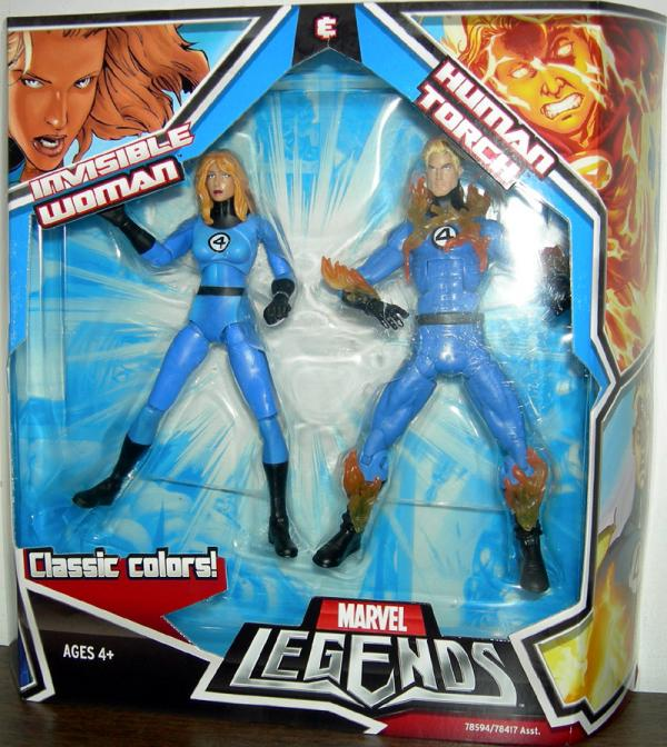 Invisible Woman Human Torch Marvel Legends action figures