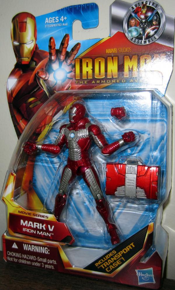 Iron Man Mark V Armored Avenger Movie Series 42 action figure