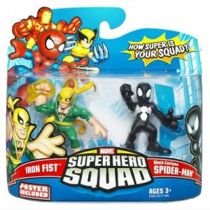 Iron Fist Black Costume Spider-Man Super Hero Squad action figures