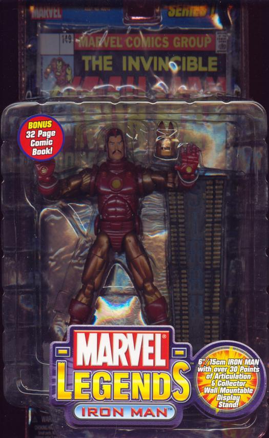 Iron Man Action Figure Marvel Legends Series 1 Gold Variant