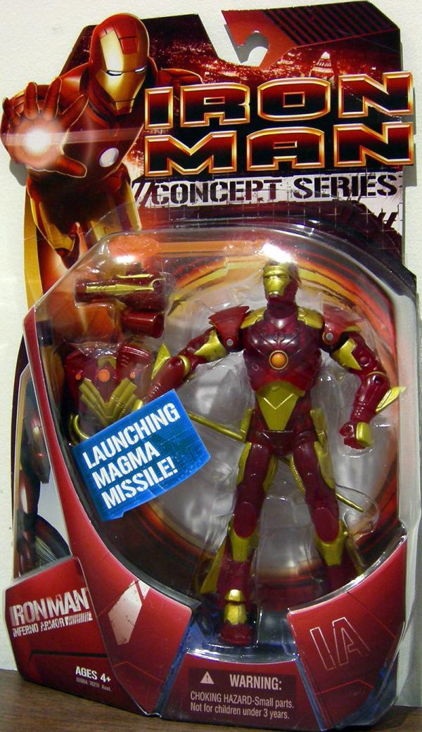 Iron Man Inferno Armor Concept Series action figure
