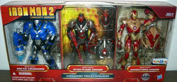Iron Man 2 Concept Series Mission Tech Armor action figures