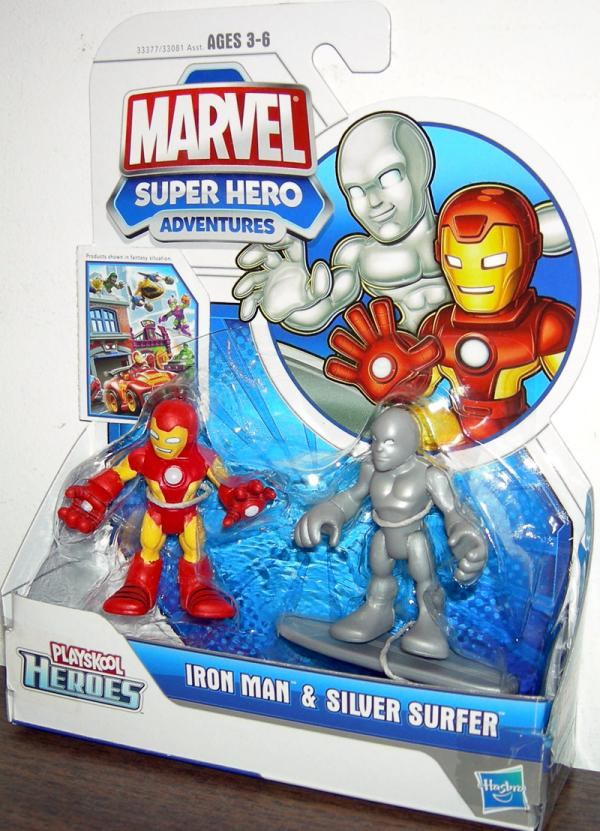 Iron Man Silver Surfer Action Figures Playskool Heroes