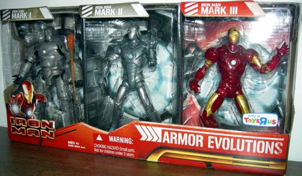 Iron Man Armor Evolutions Action Figures Toys R Us Exclusive