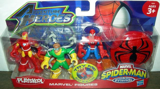Iron Man Dr Octopus Spider-Man Playskool Adventure Heroes