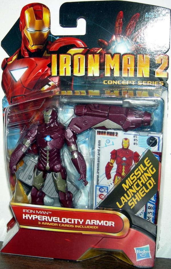 Iron Man 2 Hypervelocity Armor 05 Movie Concept Series action figure