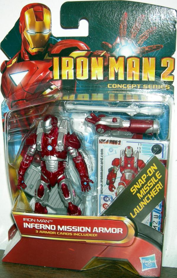 Iron Man 2 Inferno Mission Armor 13 Concept Series action figure