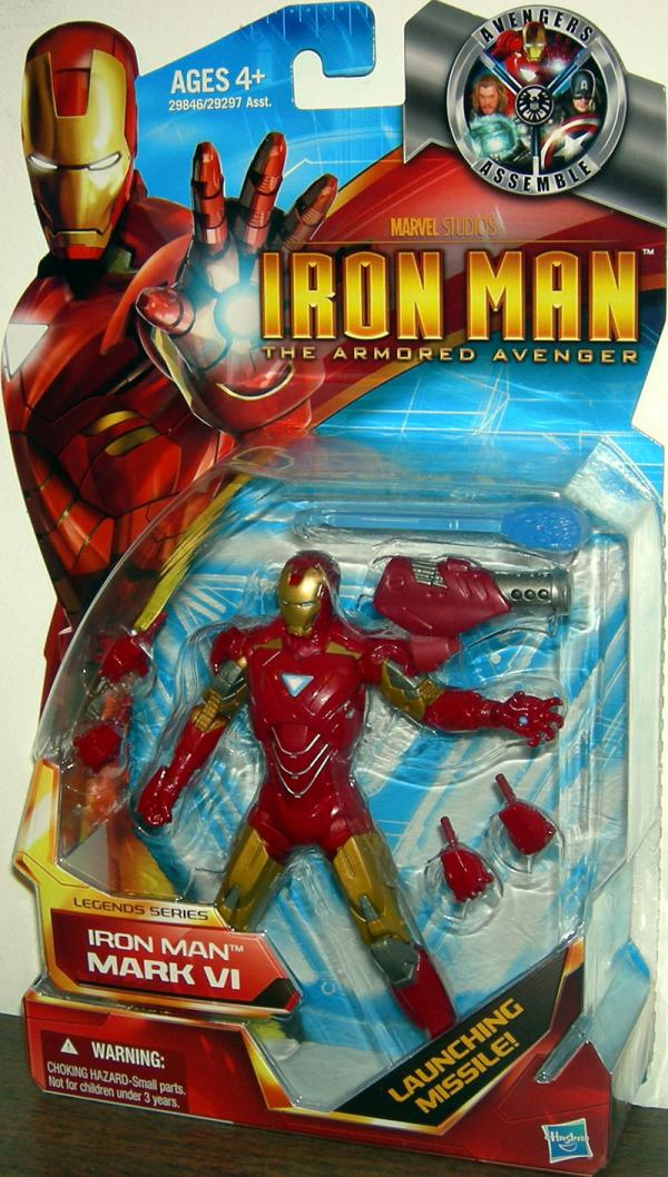 Iron Man Mark VI Action Figure Armored Avenger Legends Series