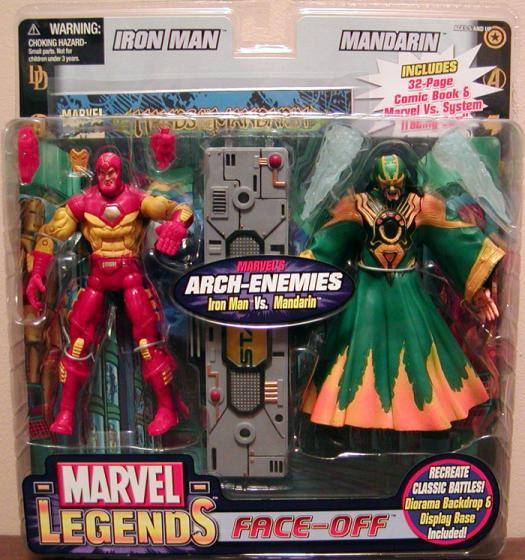 Iron Man vs Mandarin Action Figures Marvel Legends Face-Off