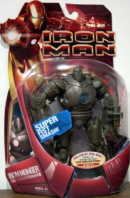 Iron Monger Figure Super Fist Smash Blue Arc Reactor Iron Man Movie