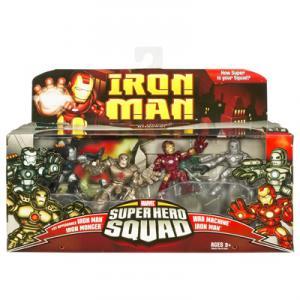 Iron Monger Attacks 4-Pack Super Hero Squad