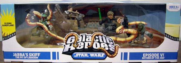 Jabbas Skiff Pit Carkoon 4-Pack Galactic Heroes