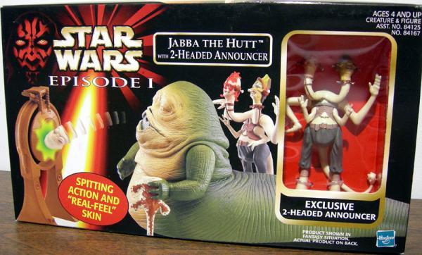 Jabba Hutt 2-Headed Announcer Star Wars action figures