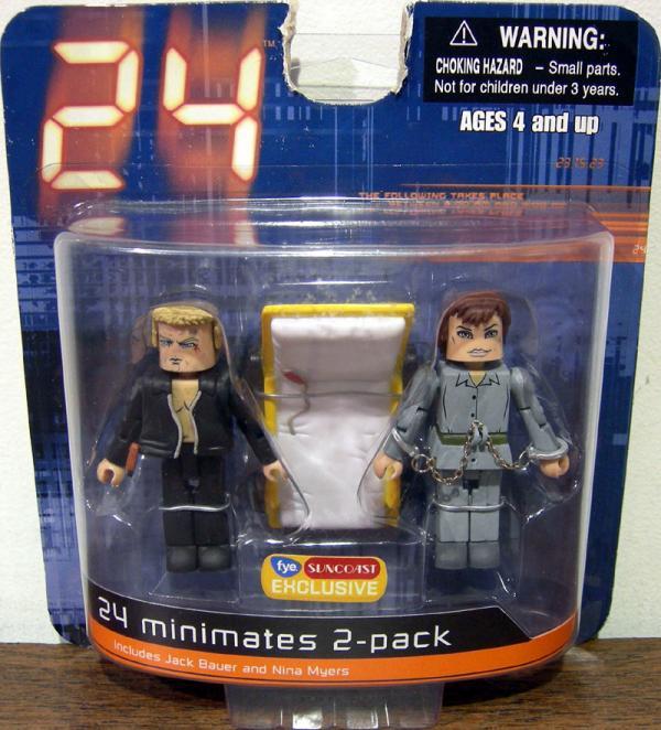 Jack Bauer Nina Myers Minimates 2-Pack 24 action figures