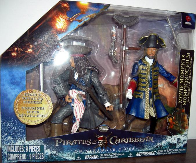 Jack Sparrow Captain Barbossa 2-Pack Movie Moments