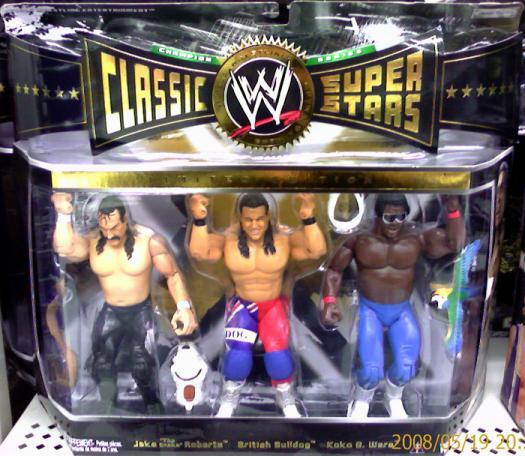 Jake Snake Roberts British Bulldog Koko B Ware Figures WWE Classic Super Stars