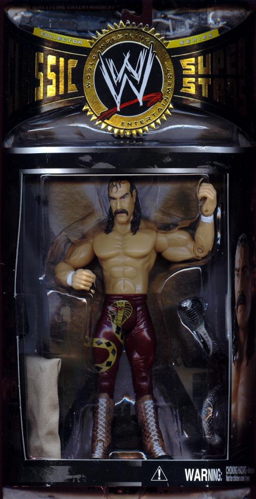 Jake the Snake Roberts Action Figure WWE Classic Super Stars