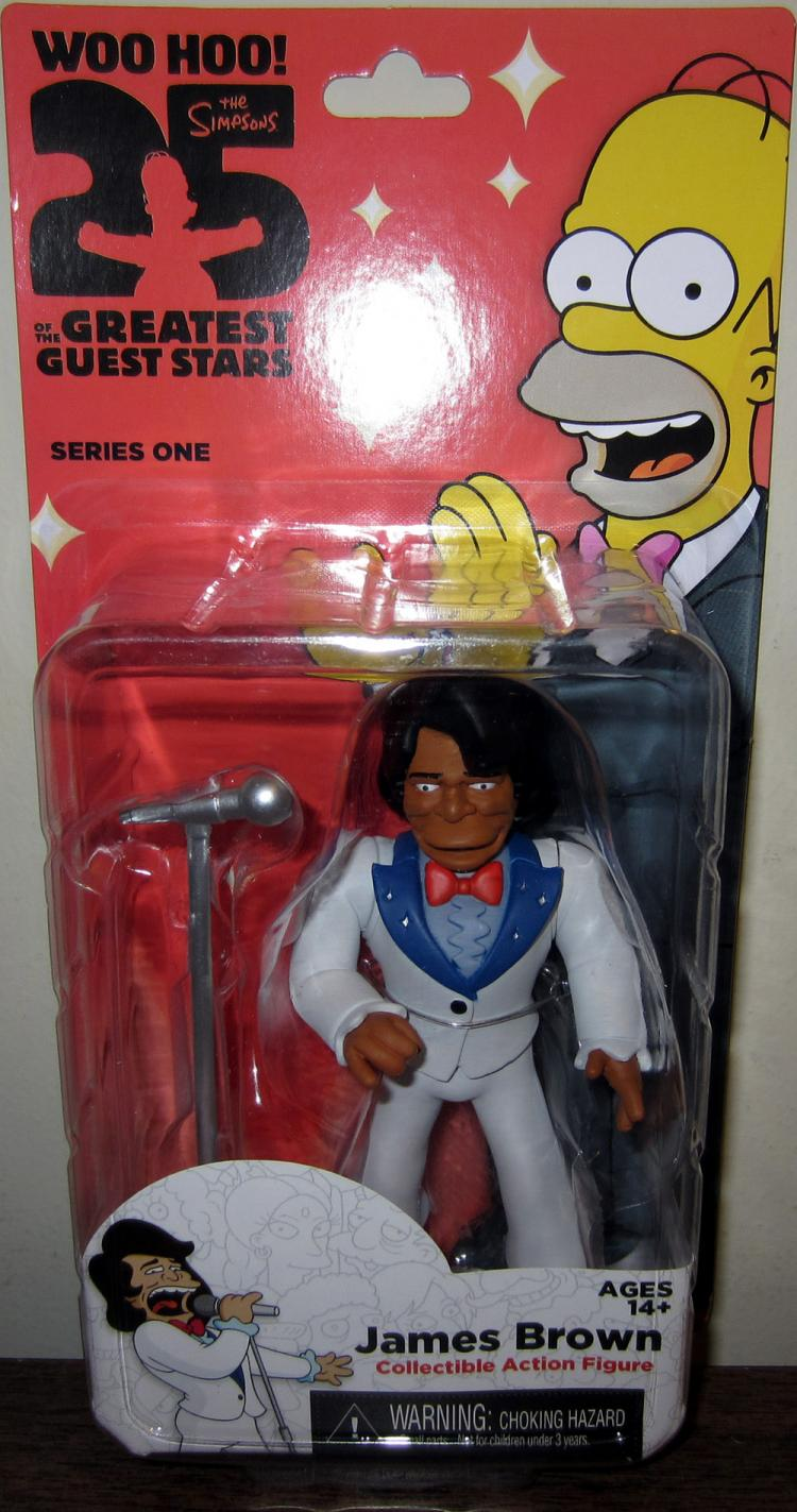 James Brown Simpsons 25 Greatest Guest Star Series 1 action figure