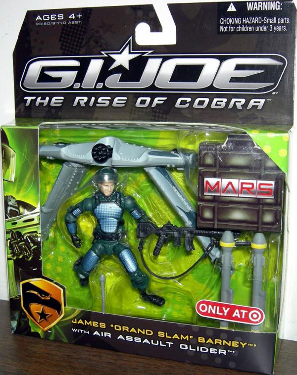 James Grand Slam Barney Air Assault Glider Rise Cobra action figure