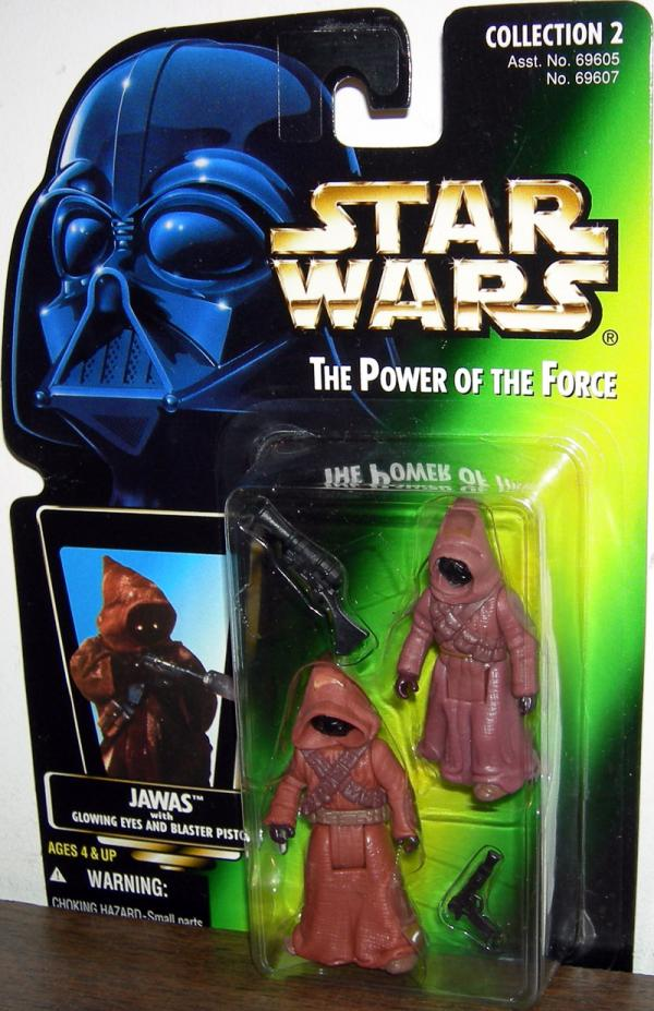 Jawas Figure Green Card Star Wars Power Force Kenner