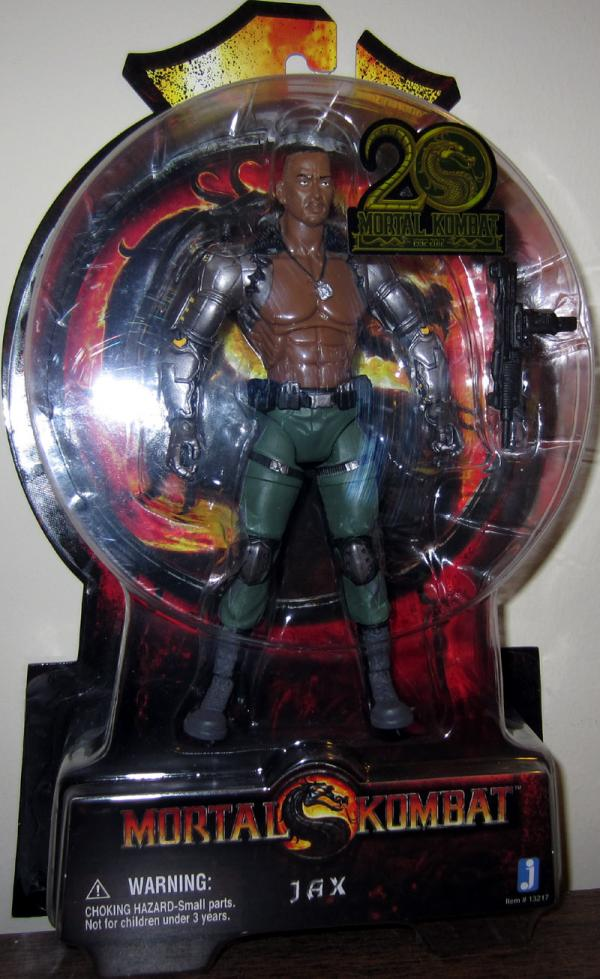 Jax Action Figure Mortal Kombat 20th Anniversary Jazwares